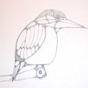 Ten-Minute-Sketch-Bird-on-a-Branch - Wendy Campbell