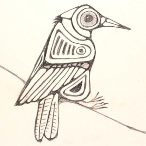 Ten-Minute-Sketch-Bird-on-a-Wire - Wendy Campbell