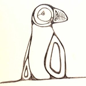 Ten-Minute-Sketch-Puffin - Wendy Campbell