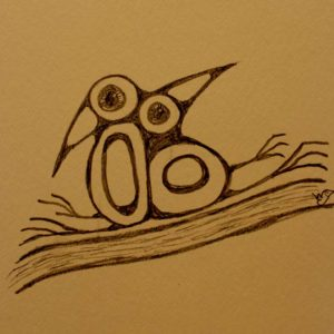 Ten-Minute-Sketch-Two-Birds-on-a-Branch - Wendy Campbell