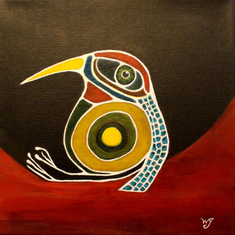 Bird on a Red HIll - Wendy Campbell