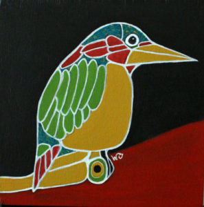 Bird on a Red Hill II - Mini © Wendy Campbell