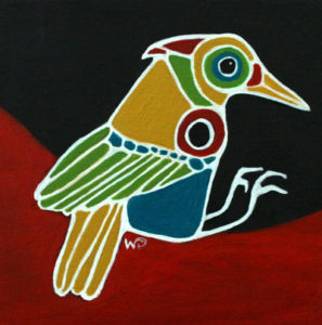 Bird on a Red Hill III - Mini © Wendy Campbell