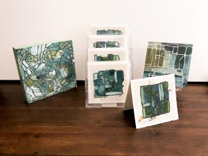 Abstract cards and small paintings © Wendy Campbell 2018