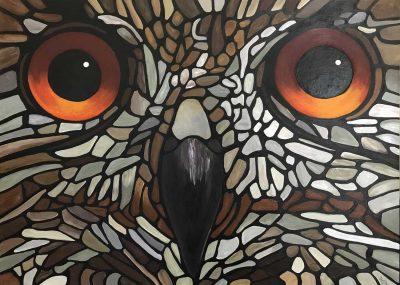 Owl, 2021 © WendyCalmpbell.art